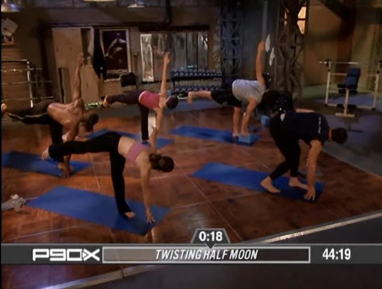 I could only watch them do half moon my first few runs through Yoga X.
