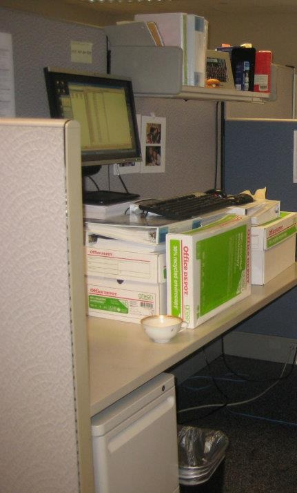 My makeshift standing desk